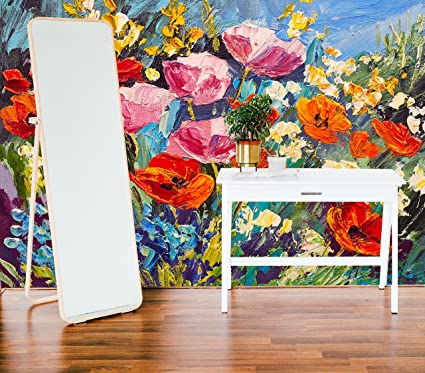 Removable Wallpaper Mural Peel Stick Oil Painting Field Of