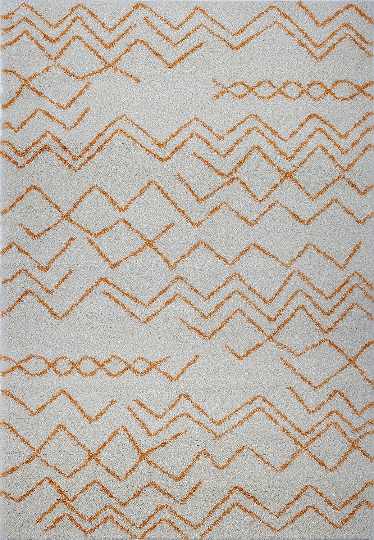 200cm x 290cm Ladole Rugs MOR12513 Sustainable Contemporary Trellis Area Rug Grey//Ivory 65 x 95