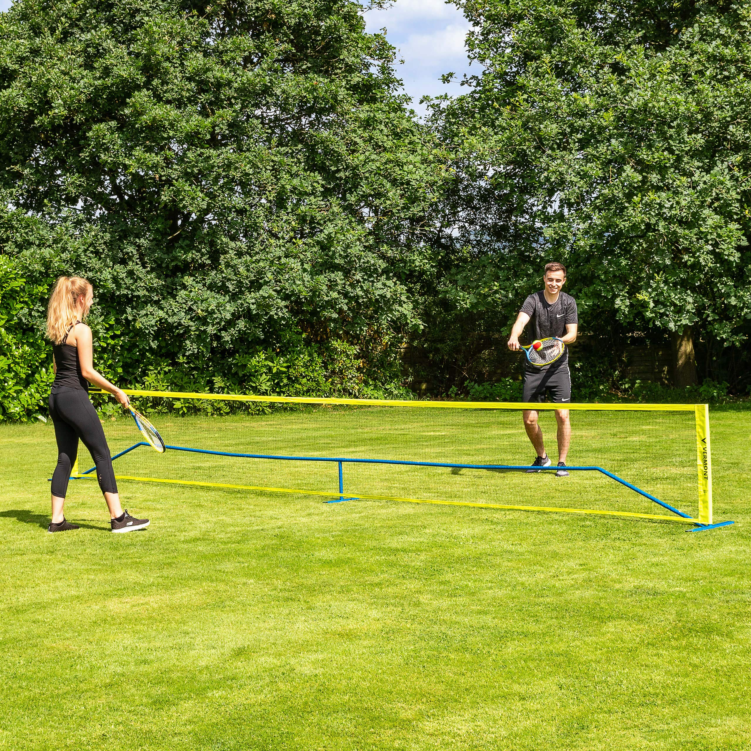 ProCourt Vermont Combi Net | Perfect for Tennis, Badminton, Pickleball, Volleyball & Soccer Tennis | Super Quick Assembly with Steel Poles | Use Indoors, Outdoors, On The Beach Or The Backyard! by ProCourt (Image #2)