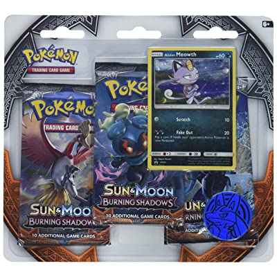 Pokemon TCG Sun & Moon Burning Shadows Three-Booster Blister: Toys & Games