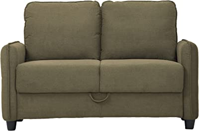 Lifestyle Solutions Salinas Loveseat, Taupe