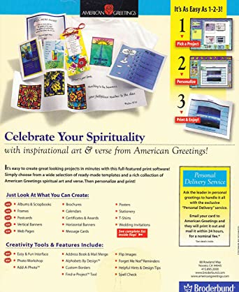 Amazon spiritual expressions 2 by american greetings win 9598 amazon spiritual expressions 2 by american greetings win 9598nt cd rom m4hsunfo