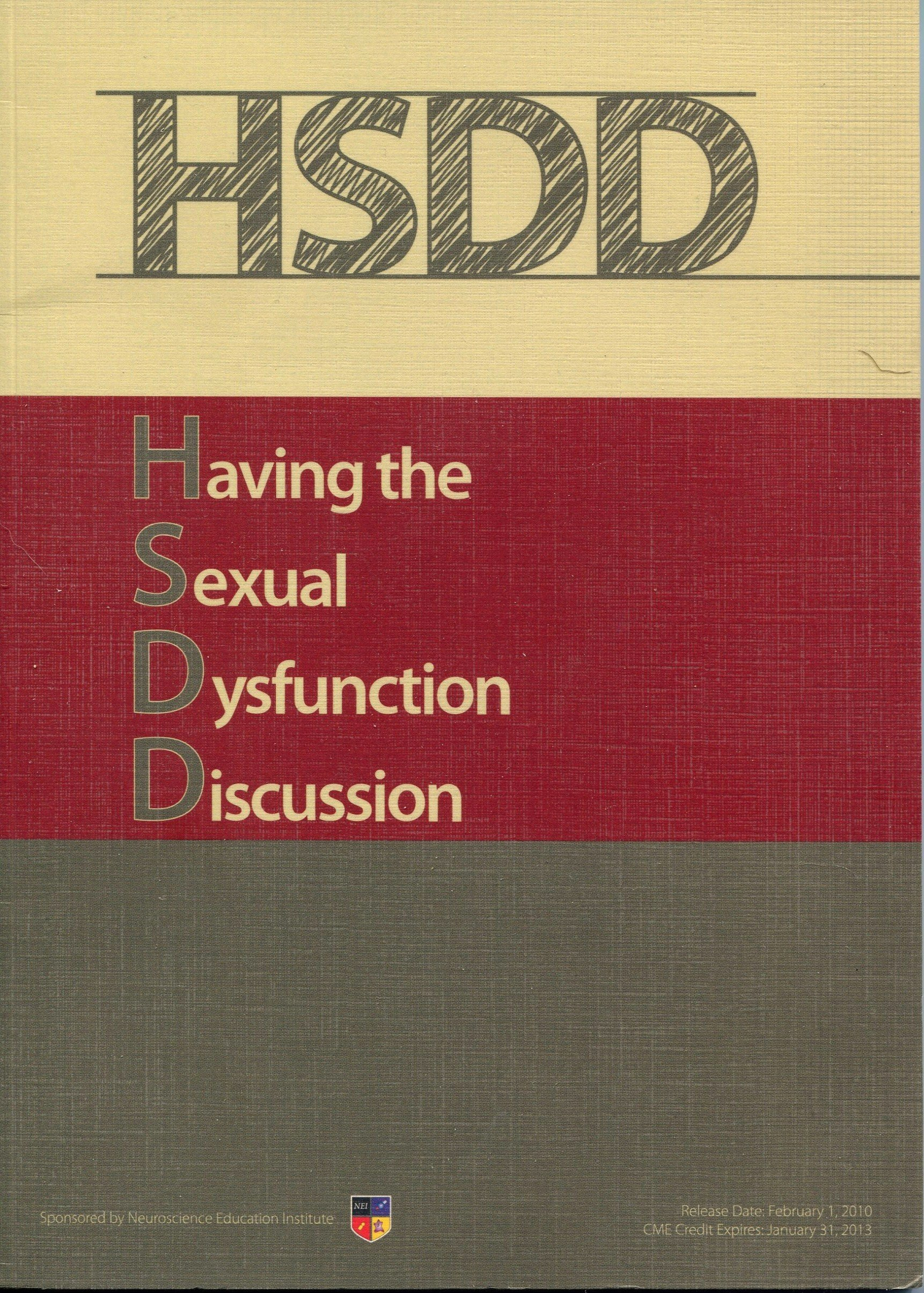 HSDD ~ Having the Sexual Dysfunction Discussion PDF
