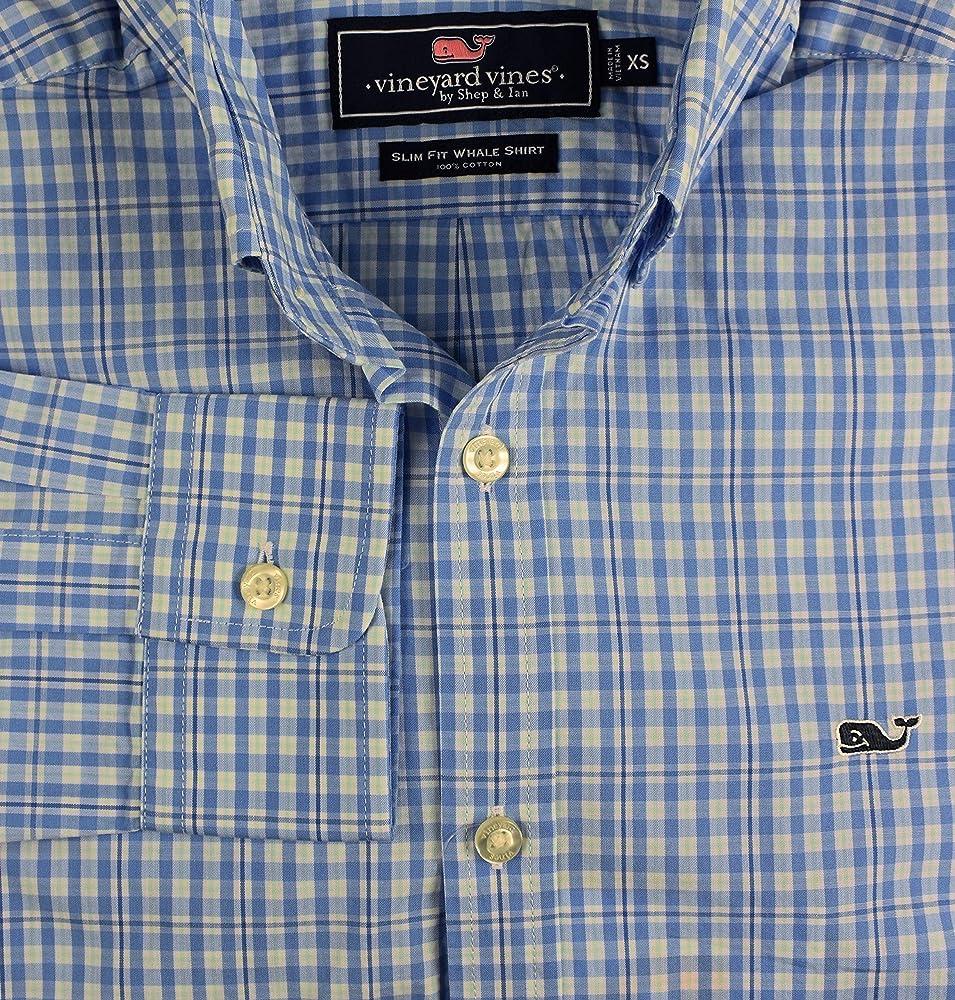 Vineyard Vines Blue Plaid Short Sleeve Button Whale Shirt Men's XS NEW B2