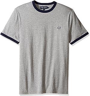 dfd8aff127 T-shirt maglia manica corta uomo Fred Perry grigio melange: Amazon ...