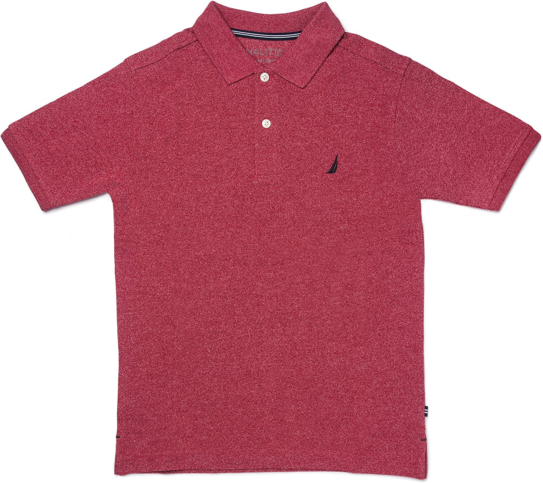 Nautica Varones 81700Q Manga Corta Camisa Polo - Rojo - M: Amazon ...