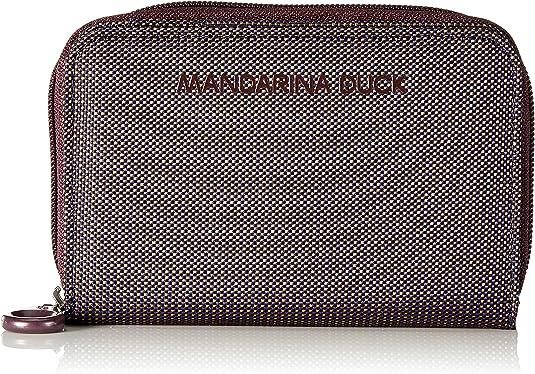 MANDARINA Duck md20 Zip Wallet Portafoglio L miaty ROSE Beige Rosso Nuovo
