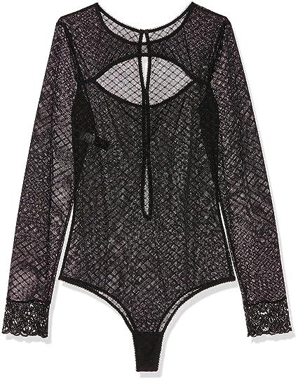 Playboy Tina - Body - Uni - Femme - Noir (Noir Doré) - FR  38 (Taille  fabricant  38 40)  Amazon.fr  Vêtements et accessoires 8b0fdf4d0b7