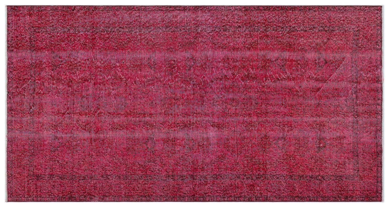 Bespoky ビンテージ 手織 ラグ 赤 小さいサイズ 112 X 215 Cm B07HKZB4VN