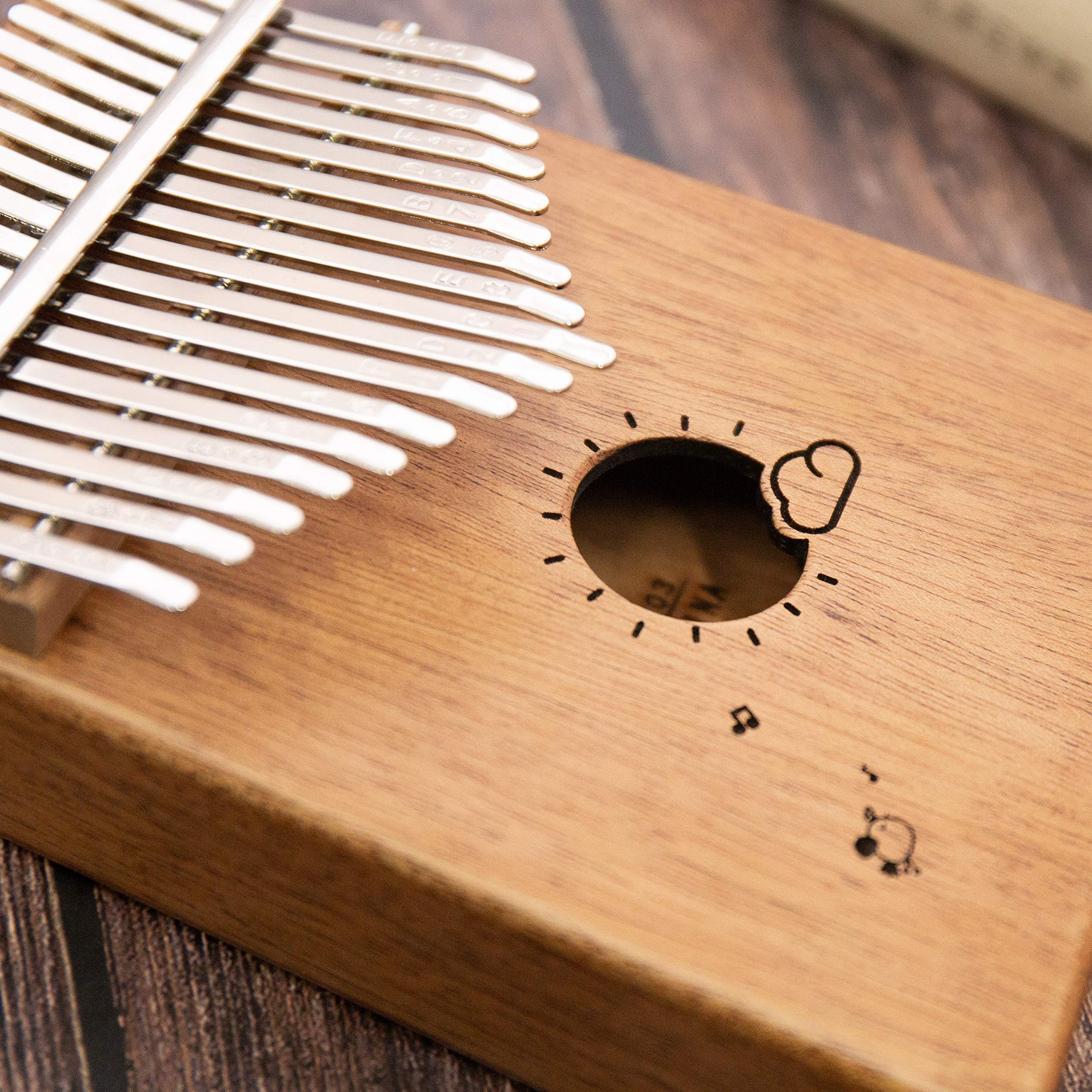 Kalimba 17 Keys Thumb Finger Piano - Mbira - Solid Mahogany and Portable with Carrying Bag and Instructions by GSM Brands (Image #4)