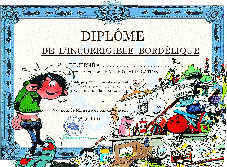 Gaston Lagaffe GLDP-7021 Carte double avec enveloppe Diplôme de  l'incorrigible Bordélique - Bazar organisé: Amazon.fr: Fournitures de bureau