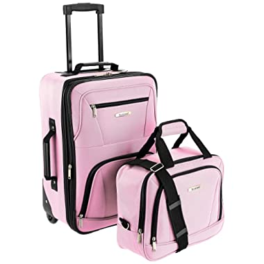 Rockland Luggage 2 Piece Set, Pink, One Size