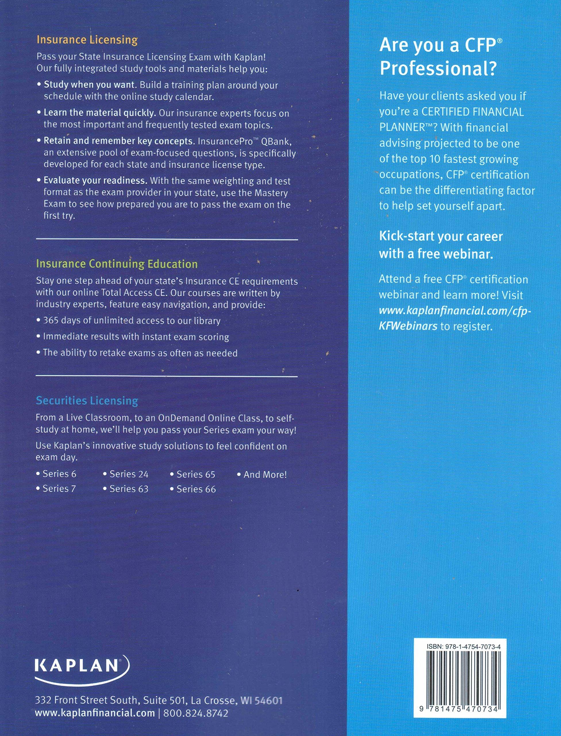 Kaplan Series 7 Securities License Exam Manual, General Securities  Representative Exam 11th Edition: Kaplan Financial Education:  9781475470734: Amazon.com: ...