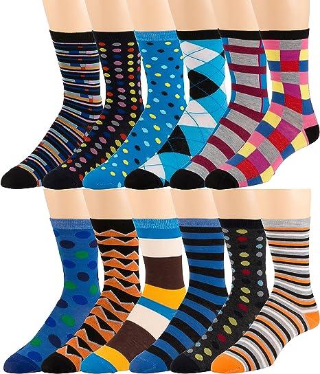 6 Pairs Men/'s Casual Formal Socks Normal Length