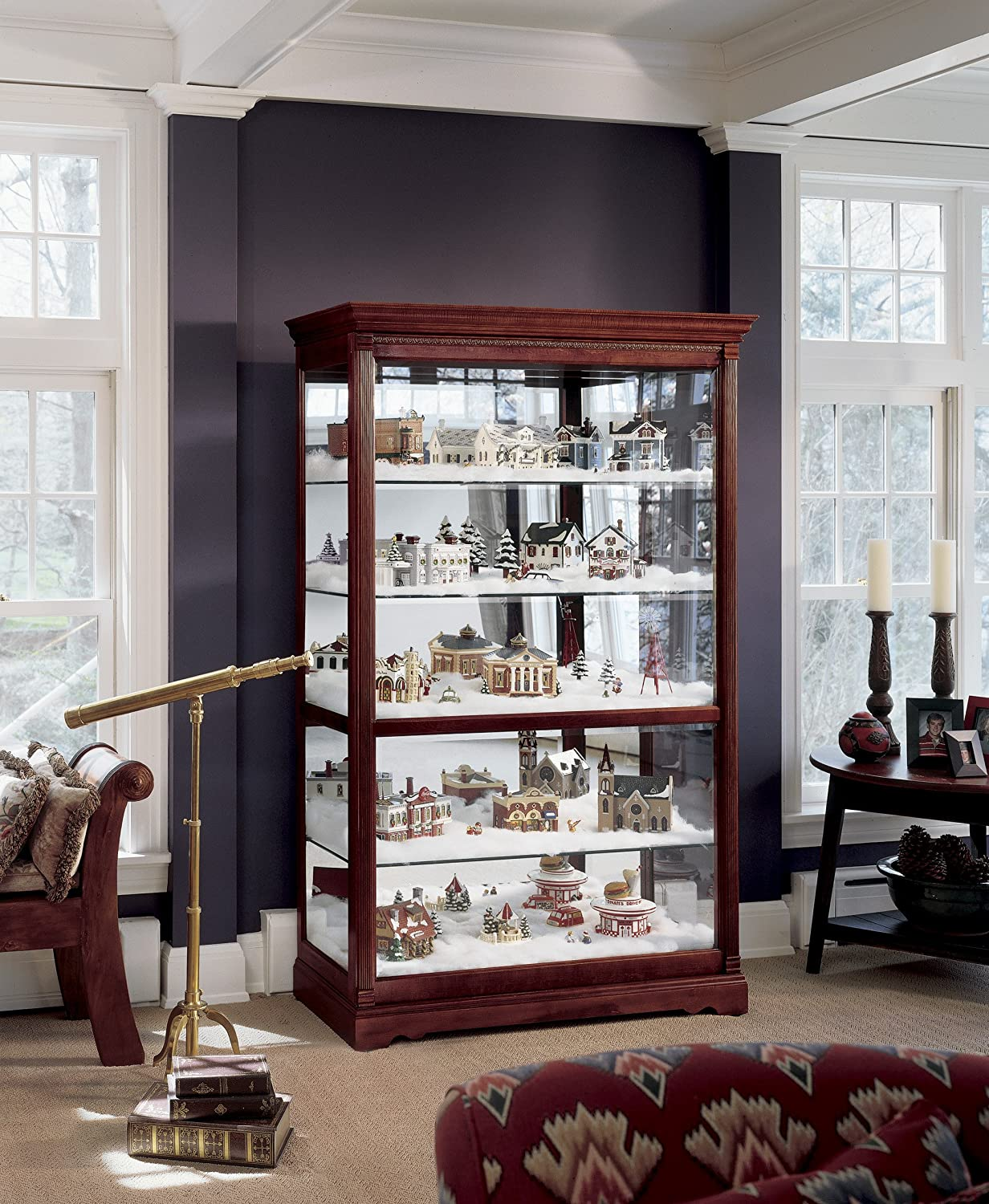 Amazon.com: Howard Miller 680 235 Townsend Curio Cabinet By: Kitchen U0026  Dining