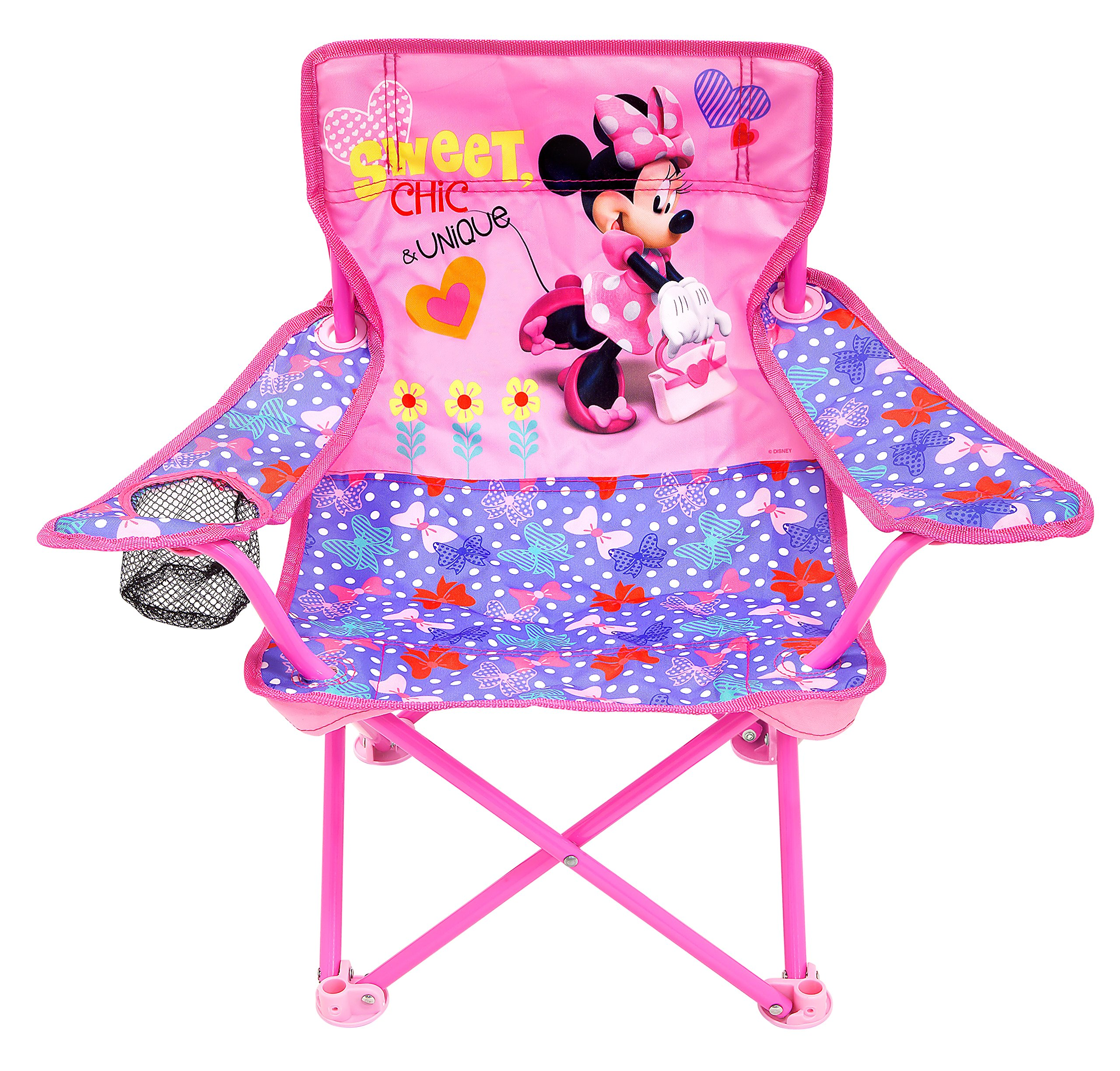 Kids Girls Portable Folding Chair Minnie Mouse Children Furniture