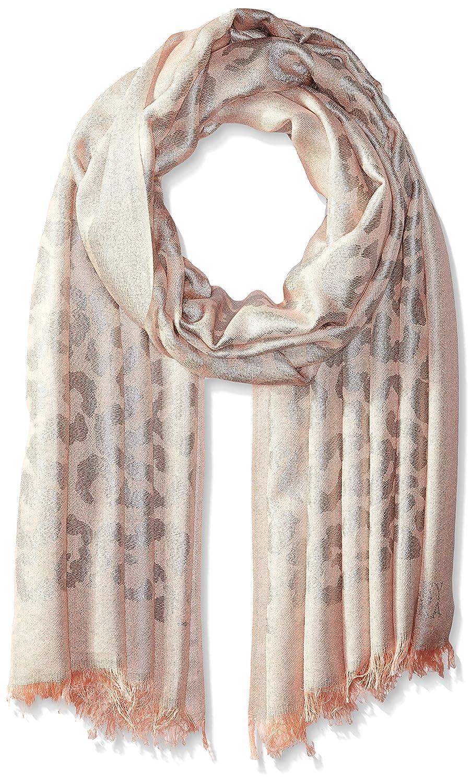 BADGLEY MISCHKA Women's Ocelot Lurex Jacquard Wrap Scarf black/silver One Size SCW-5242