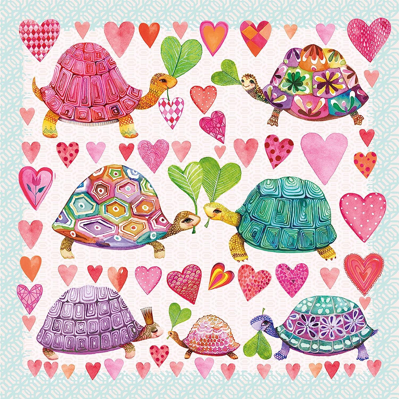 33 x 33 cm serviette en papier PPD Tortues in Love 20 serviettes de table serviettes 1331957 multicolore