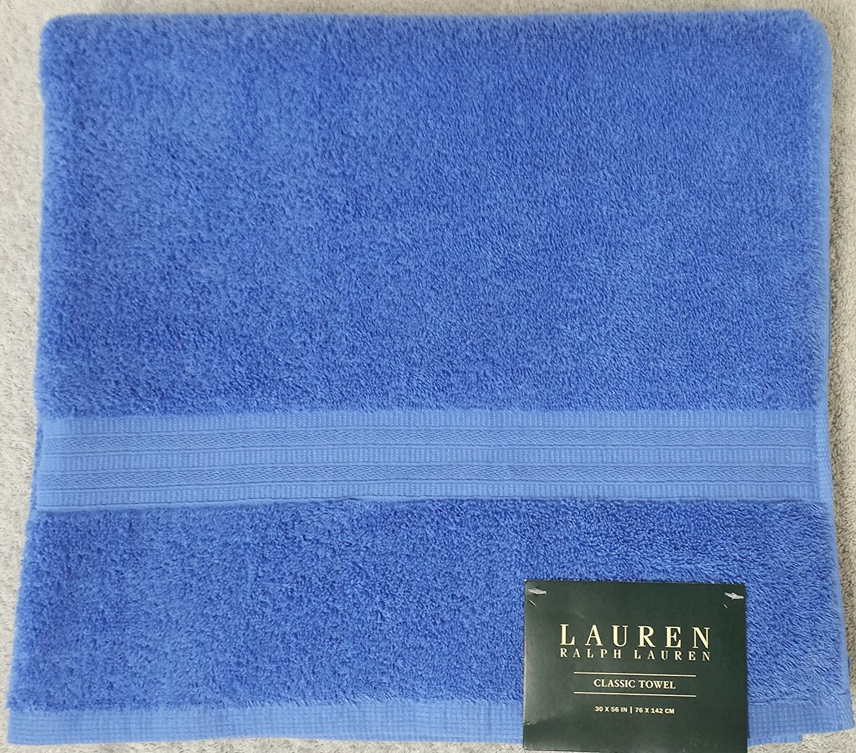 Ralph Lauren Classic 6 piezas Juego de toallas de baño - 100% algodón - azul cobalto: Amazon.es: Hogar