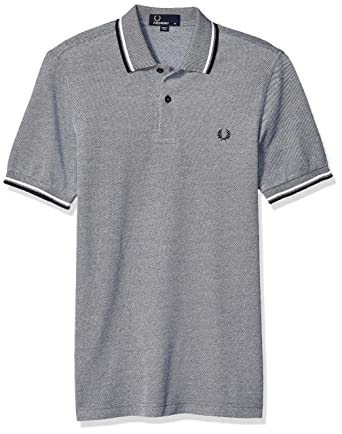 d4512449a Fred Perry Men's Twin Tipped Shirt-M3600, Dark Carbon Oxford/White/Navy