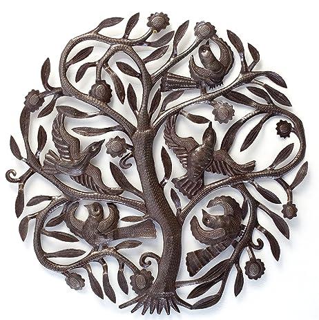 Steel Drum Tree Of Life Metal Wall Art , Haitian Steel Drum Art, 23u0026quot;