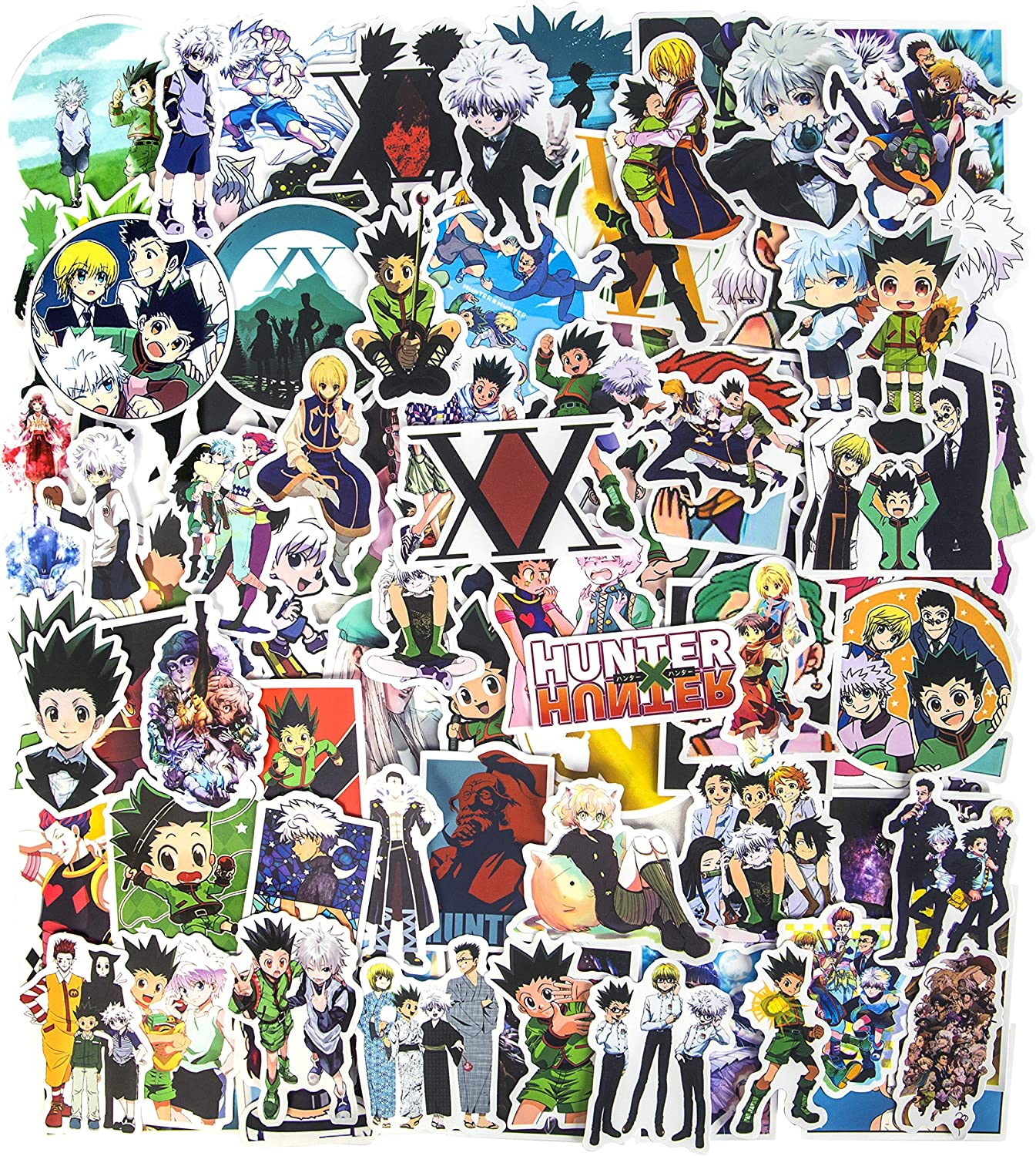 Hunter X Hunter Stickers, 100pcs Japanese Anime Stickers Waterproof Vinyl Stickers for Teens Laptop Stickers Water Bottle Stickers Guitar Computer Skateboard Stickers Gifts for Anime Lovers