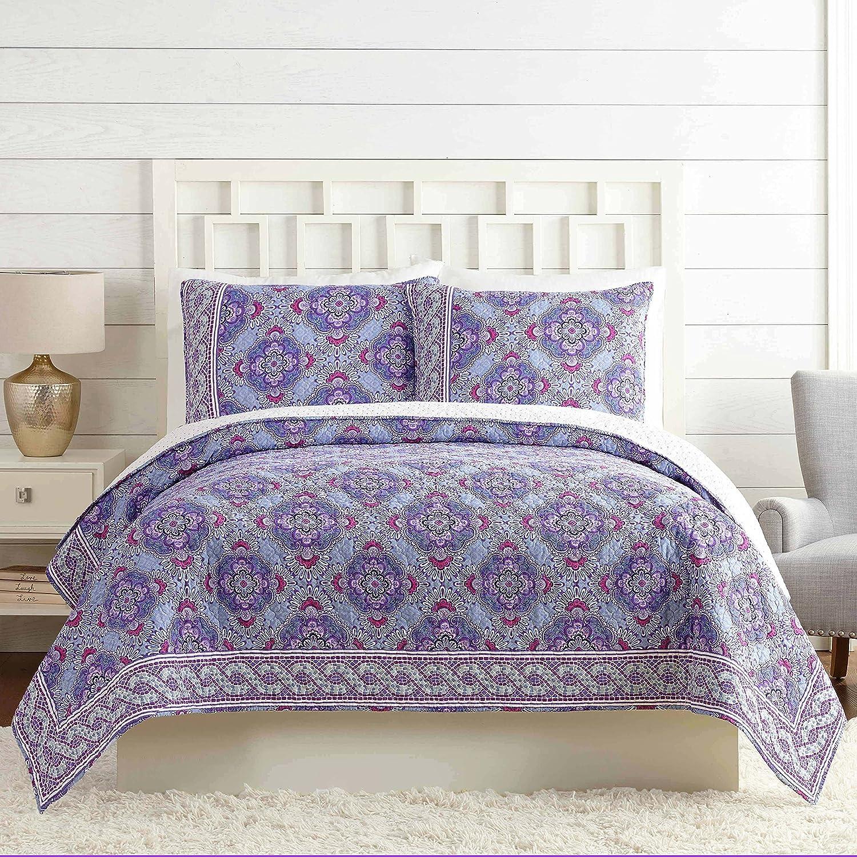 Vera Bradley A739A16PRNFE Purple Passion Quilt, King