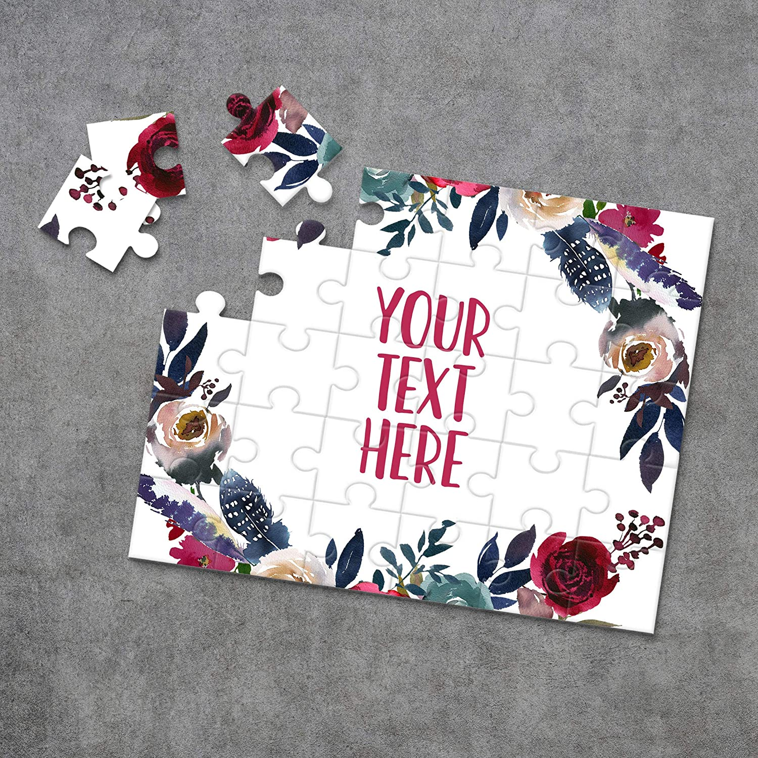 Custom Puzzle CYOP0147 Announcement Ideas Personalized Puzzle Create Your Own Puzzle Pregnancy Announcement Wedding Announcement