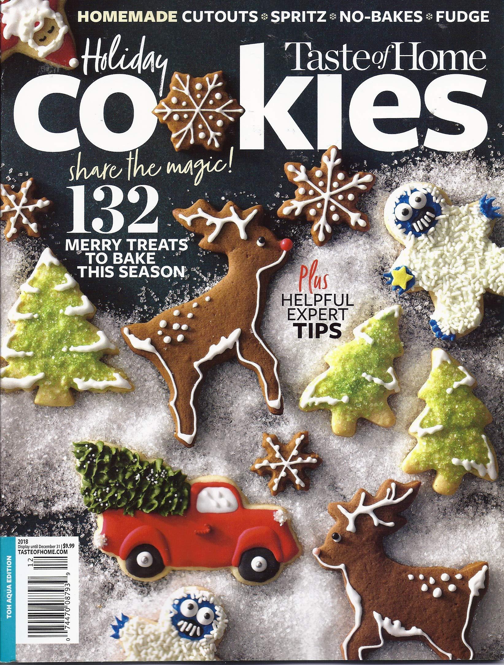 Taste Of Home Holiday Cookies Candies Magazine 2018 Amazon Com Books