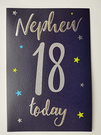 Special Nephew 18th Birthday Card Amazoncouk Kitchen Home