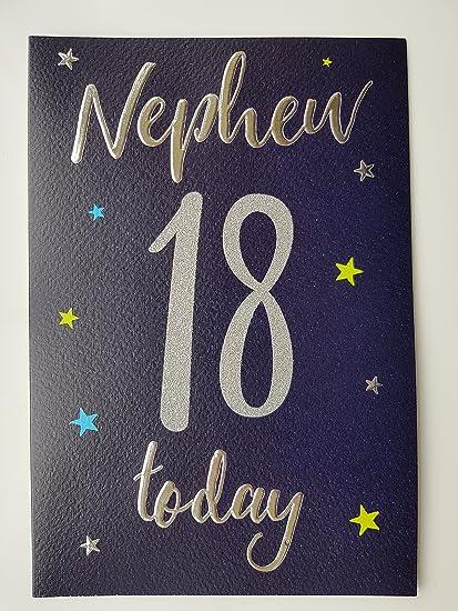 Special Nephew 18th Birthday Card Amazoncouk Kitchen Home