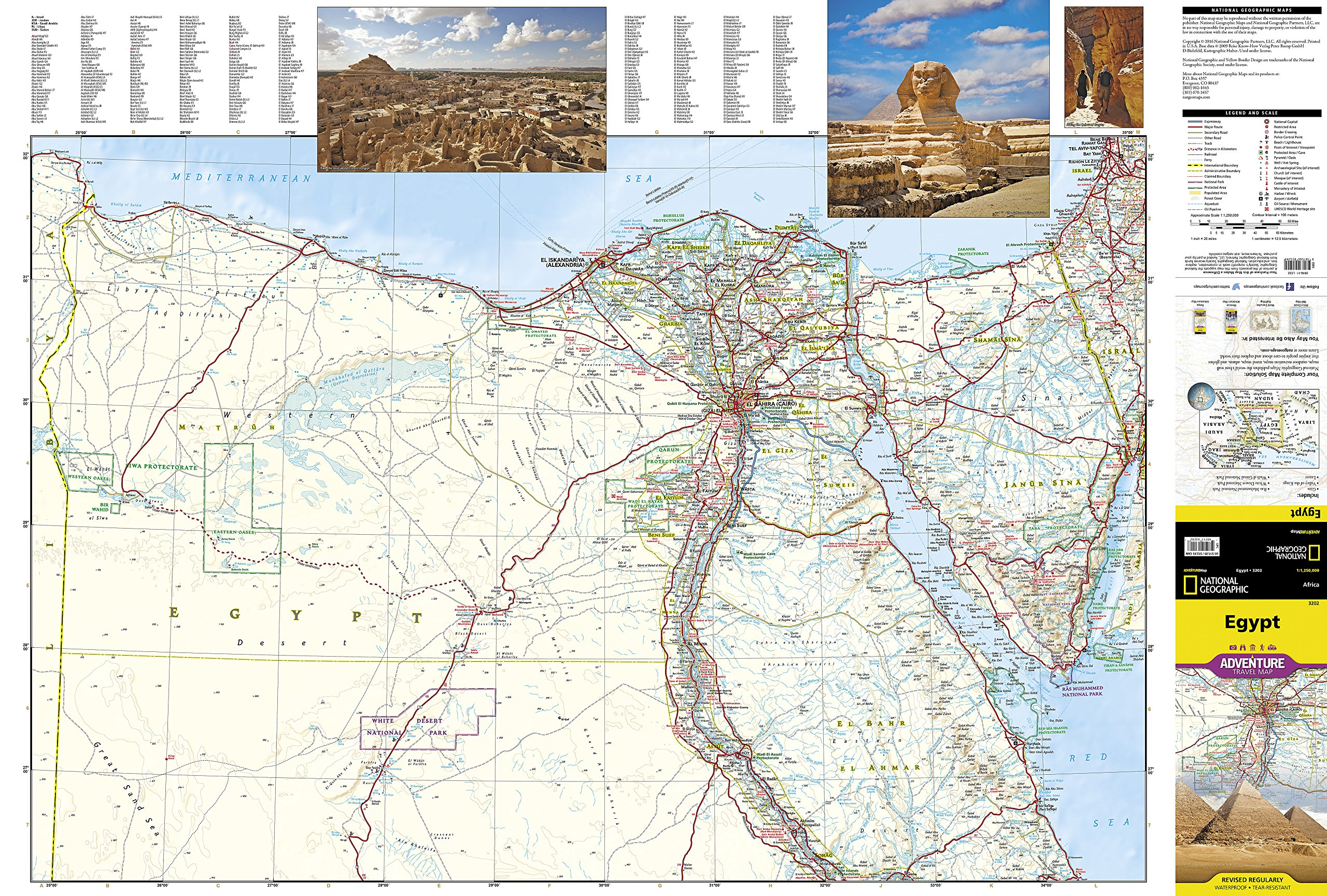 Egypt National Geographic Adventure Map National Geographic - Map of egypt hd