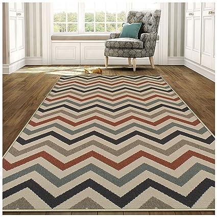Amazon.com: Superior Chevron Collection 4\' x 6\' Area Rug, Indoor ...
