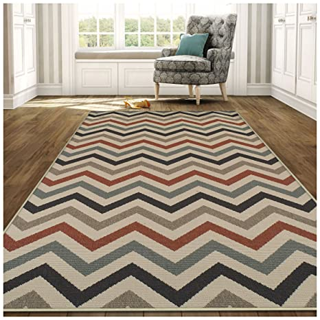 Amazon Com Superior Chevron Collection 4 X 6 Area Rug Indoor