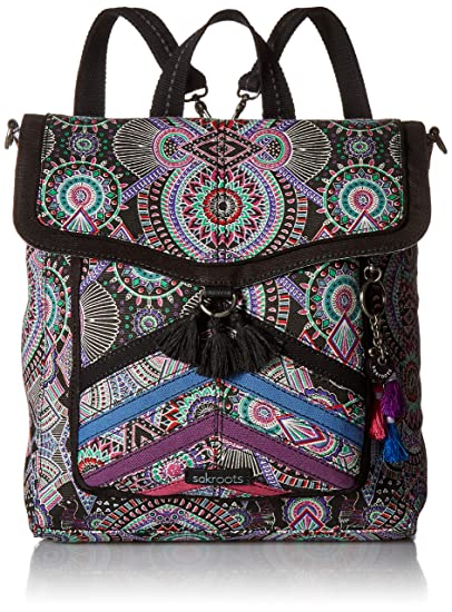 28419058f Sakroots Colette Convertible Backpack, Onyx Wanderlust: Amazon.in ...