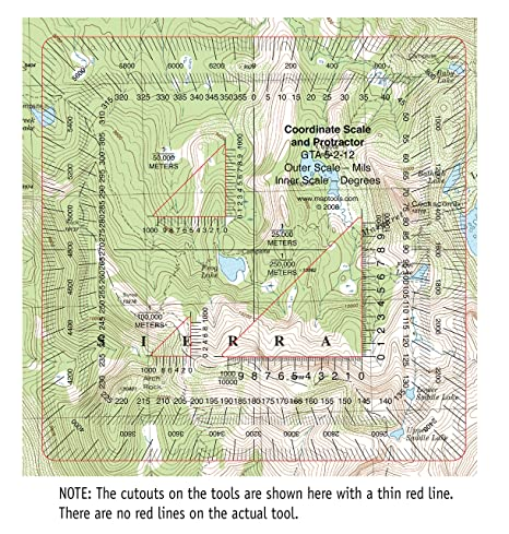 Us Map With Coordinate Grid Amazon Com Military Style Utm Mgrs - Us coordinate map