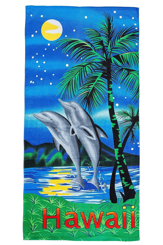 motif Dauphins Hawaii GIBRA/® Serviette de plage drap de bain 70/x 140/cm
