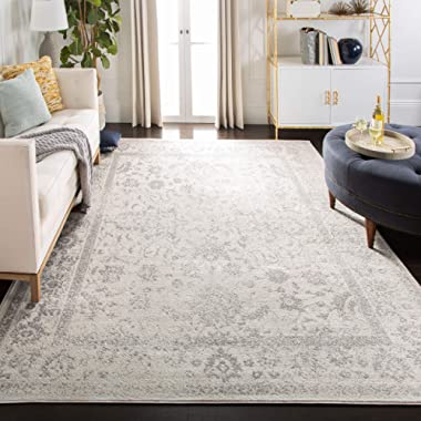 Safavieh Adirondack Collection ADR109C Ivory and Silver Oriental Vintage Distressed Area Rug (8' x 10')