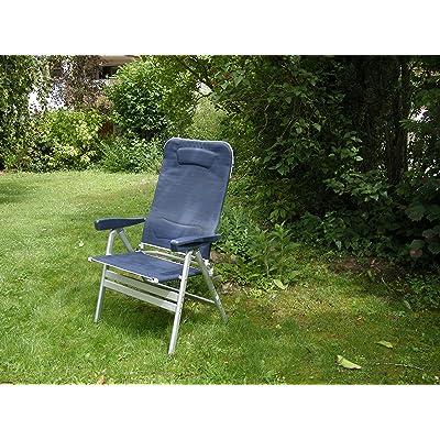 - Nouveau–Stabielo Chaise de camping–en aluminium–charge SMAR Tico–avec jambes Coussin–120kg–Couleur&ndas