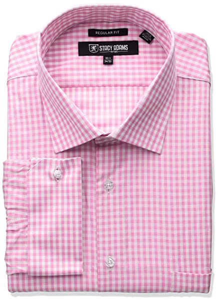 eadeaa79a4b Stacy Adams Mens Big-Tall Big-Tall Gingham Check Dress Shirt  Amazon.ca   Clothing   Accessories