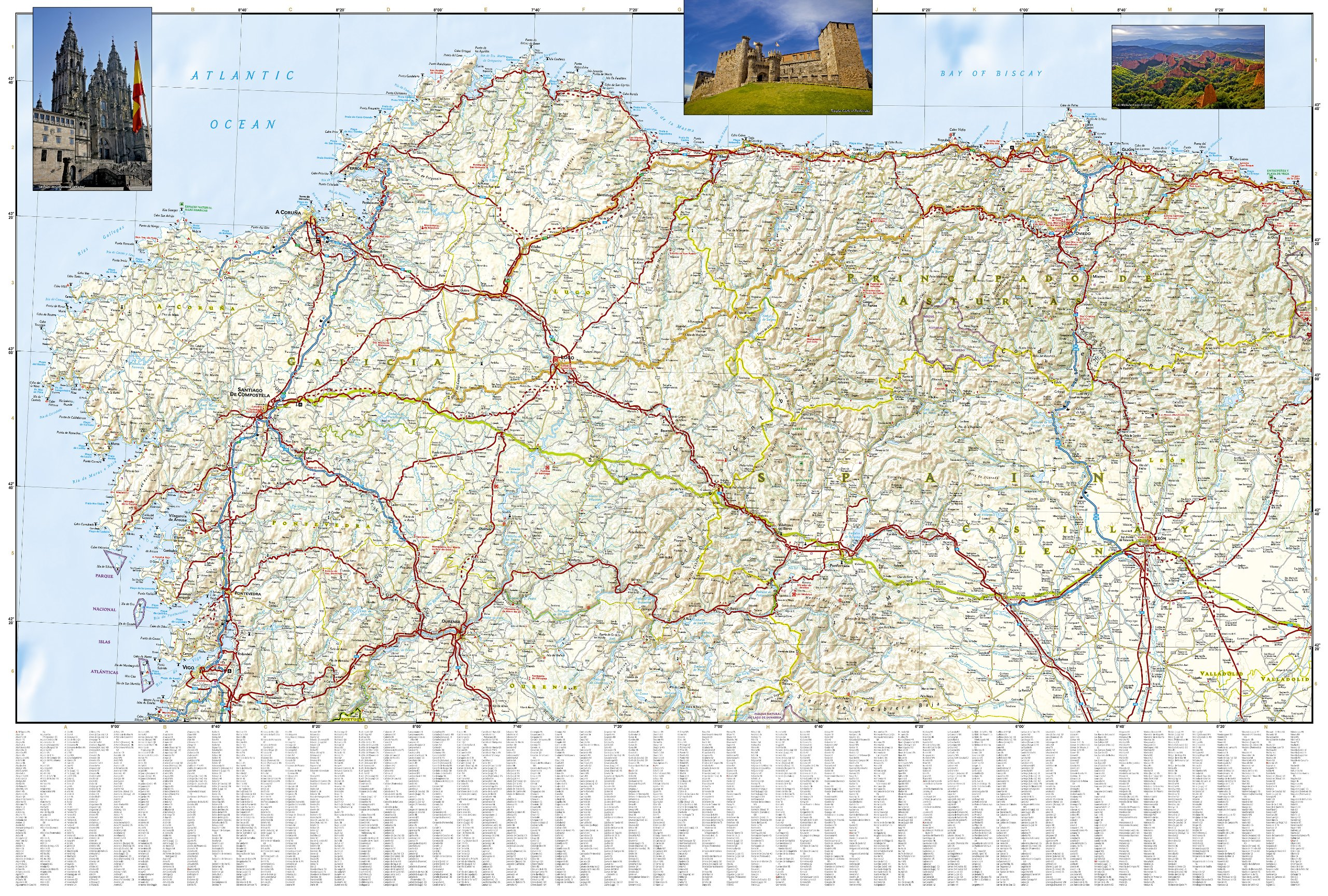 Road Map Of Spain.Northern Spain National Geographic Adventure Map National