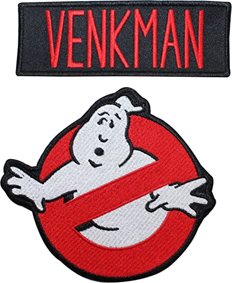GHOSTBUSTERS MOVIE EMBROIDERED VENKMAN NAME TAG HOOK PATCH