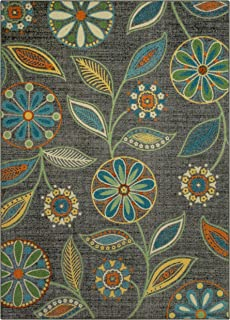 product image for Maples Rugs Reggie Floral Area Rugs for Living Room & Bedroom [Made in USA], Multi, 5 x 7