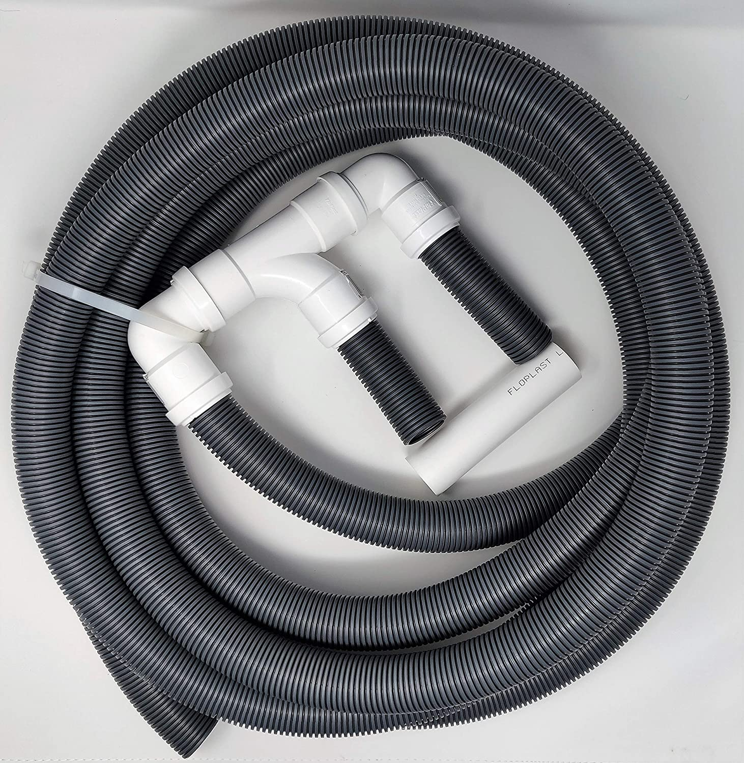 BITS4REASONS NEW 2019 MODEL DOUBLE CARAVAN TWIN CARAVAN WASTE WATER OUTLET PIPE SYSTEM WITH 10 METRE SITE PIPE OPTION WITH FLOPLAST HOME PLUMBING GRADE FITTINGS CE STANDARD TESTED TO EN 1451
