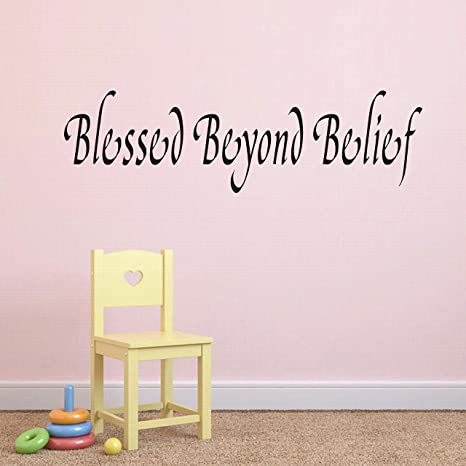 Bible Verse Wall Decal Decor Vinyl Quote Sticker Lettering Art Blessings Count