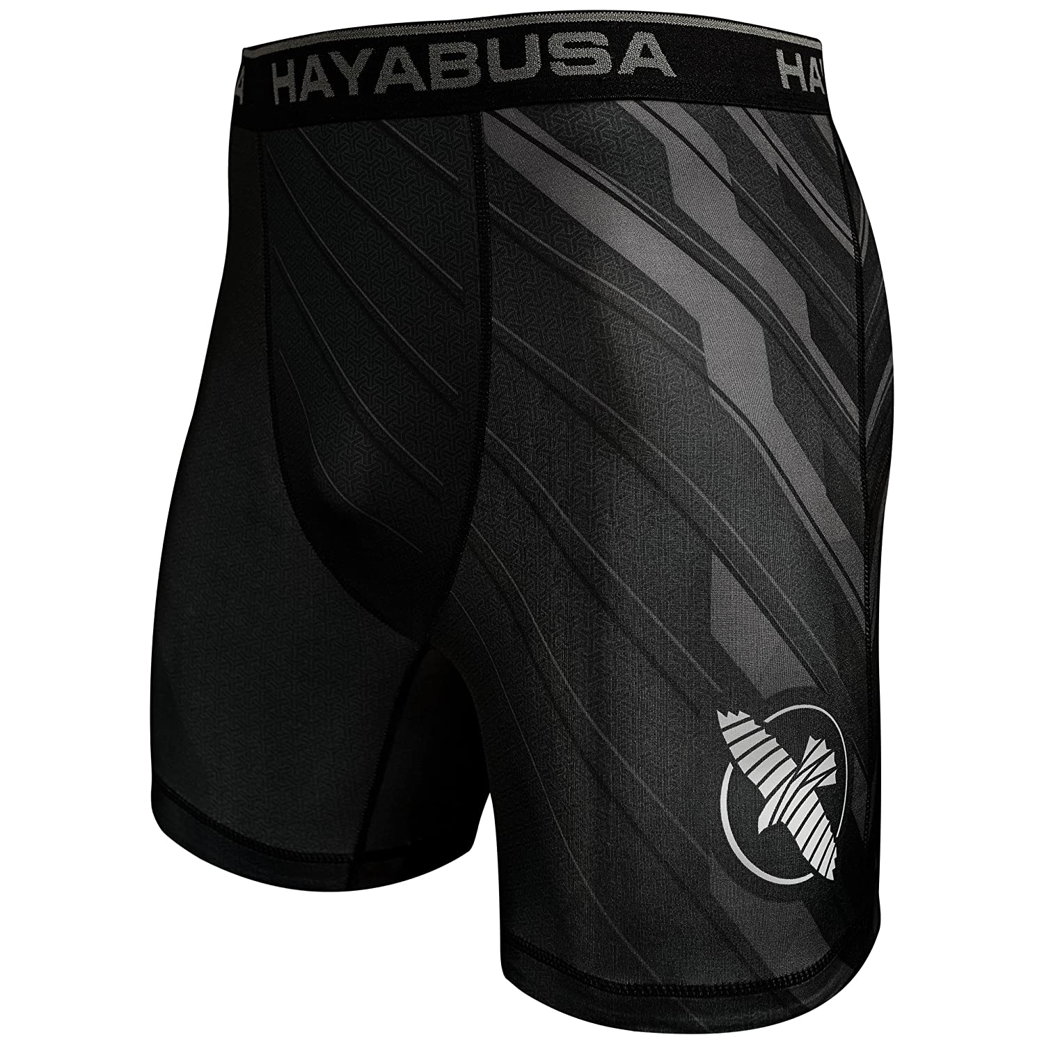 Hayabusa Metaru Charged Compression Shorts, Black/Grey