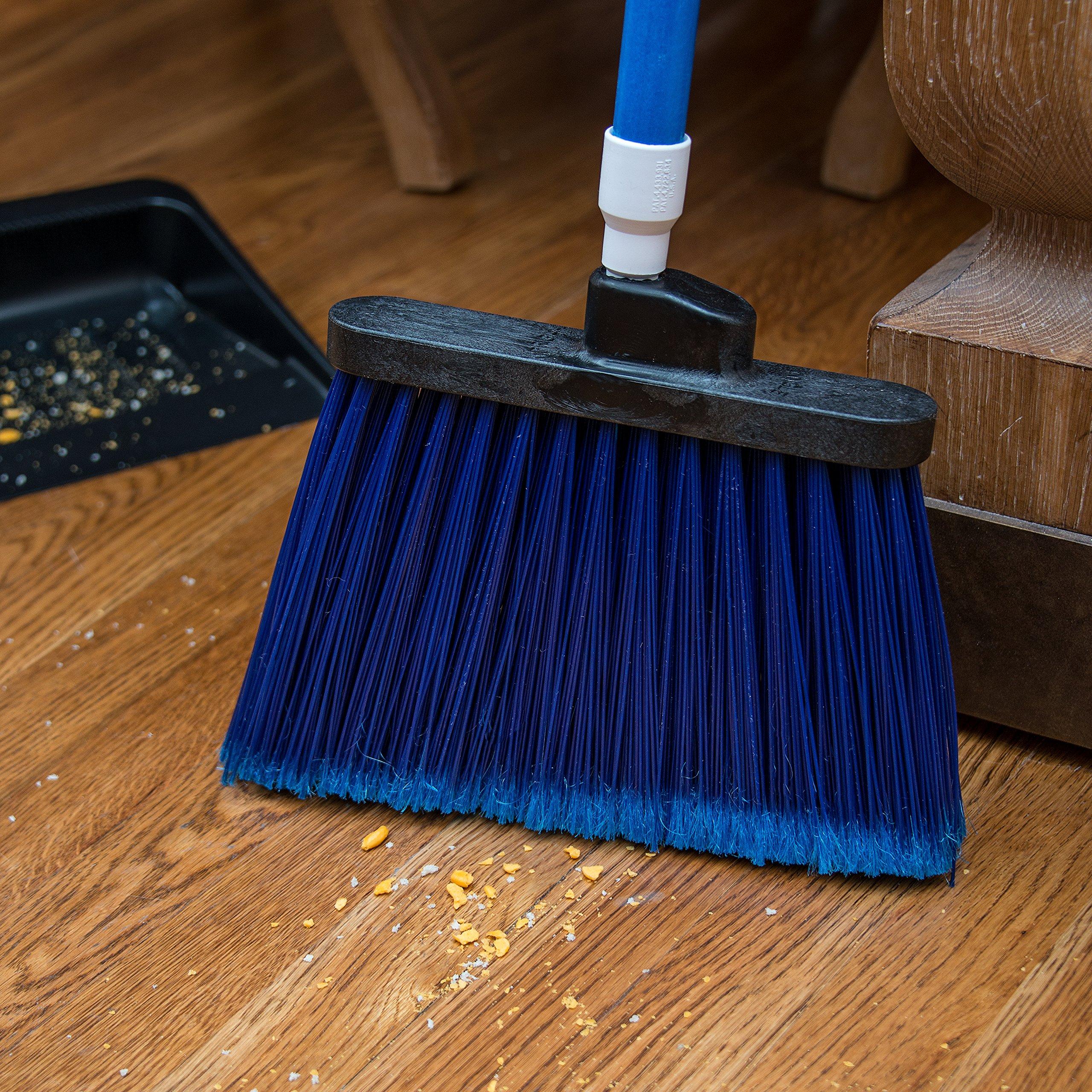 Carlisle 3686714 Duo-Sweep Medium Duty Flagged Angle Broom Head, Polypropylene Bristle, 8'' Overall Length x 12'' Width, Blue (Pack of 12) by Carlisle (Image #6)