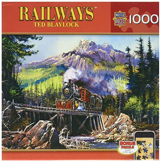 Amazon.com: MasterPieces Railways Tornado Alley Jigsaw Puzzle, Art by Ted Blaylock, 1000-Piece: Toys & Games