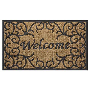 """Achim Home Furnishings COM1830VN6 Vines Coco Door Mat, 18 by 30"""""""