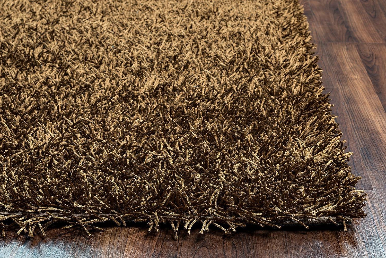 Kempton polyester area rug burgundy merlot colored 3 x3 area rugs - Amazon Com Riz Kidz Kempton Shag Rug Brown 8 X 10 Kitchen Dining